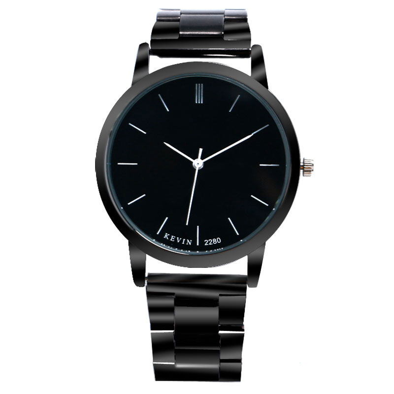 High Quality 3 Colors Modern Fashion Business Men Women Quartz Wristwatch Stainless Steel Strap Cost-effective Male Watches Gift modern business information systems