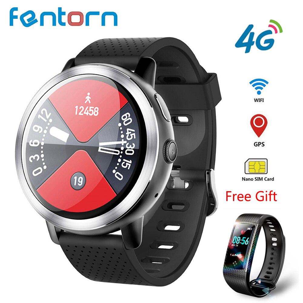 LEM8 4G Montre Smart Watch Hommes Android 7.1.1 2 GB + 16 GB Avec GPS 2MP Caméra 1.39 Pouces AMOLED écran 580 Mah Batterie Smartwatch Femmes
