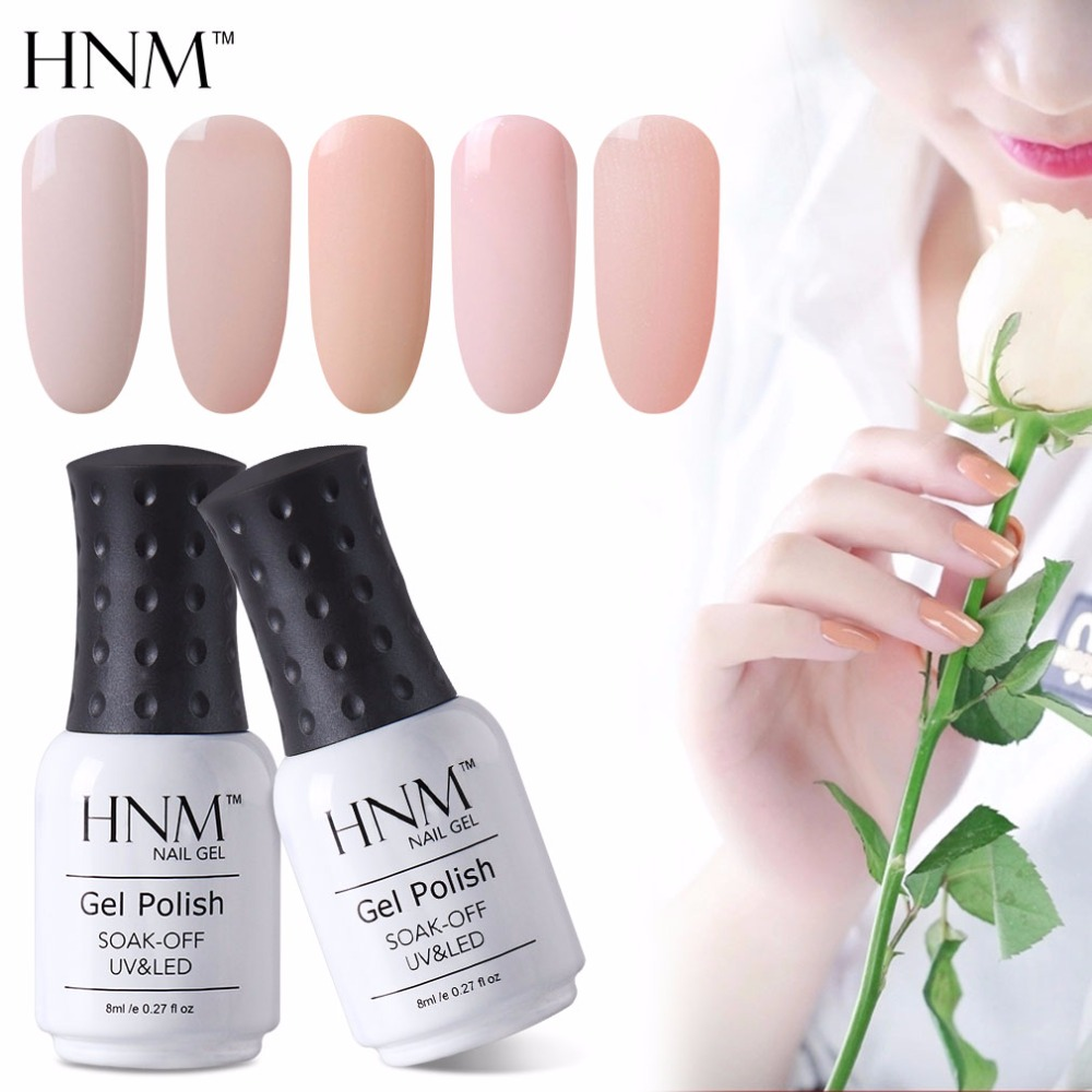 HNM Light Color 8ml Gel Nail Polish Hybrid Semi Permanent Polish UV LED Gel Polish Lucky Gel ink Gel Varnishes Gelpolish GelLak