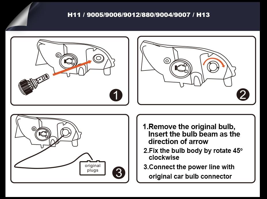 T1 LED CAR HEADLIGHT H4 H7 H11 H1 (18)
