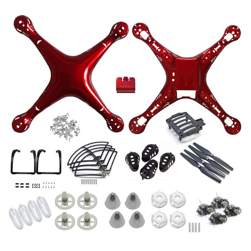 Parts Kit SYMA X8/X8C/X8W/X8G/X8HC/X8HW/X8HG Plastic Part Main Body Shell Cover And Gear Propeller Protective Frame Landing Gear x8c 07 decorative part for syma x8c