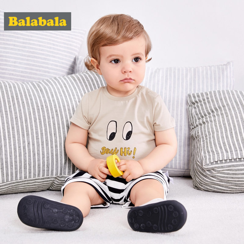 6M-4T Baby Boy Clothes Summer 2018 Cartoon Boys T Shirt+Striped Pants Boys Clothing Set Kids Toddler Summer Clothes Outfits 2017 summer toddler kids girls striped baby romper off shoulder flare sleeve cotton clothes jumpsuit outfits sunsuit 0 4t