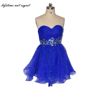 Navy Blue Fashion Homecoming Dresses With Beading A Line Chiffon Crystals Junior Prom Dress High School