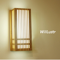 Natural Bamboo Wall Sconce wood wall lamp Japan style lighting living room restaurant cafe bedroom hotel hall Izakaya light