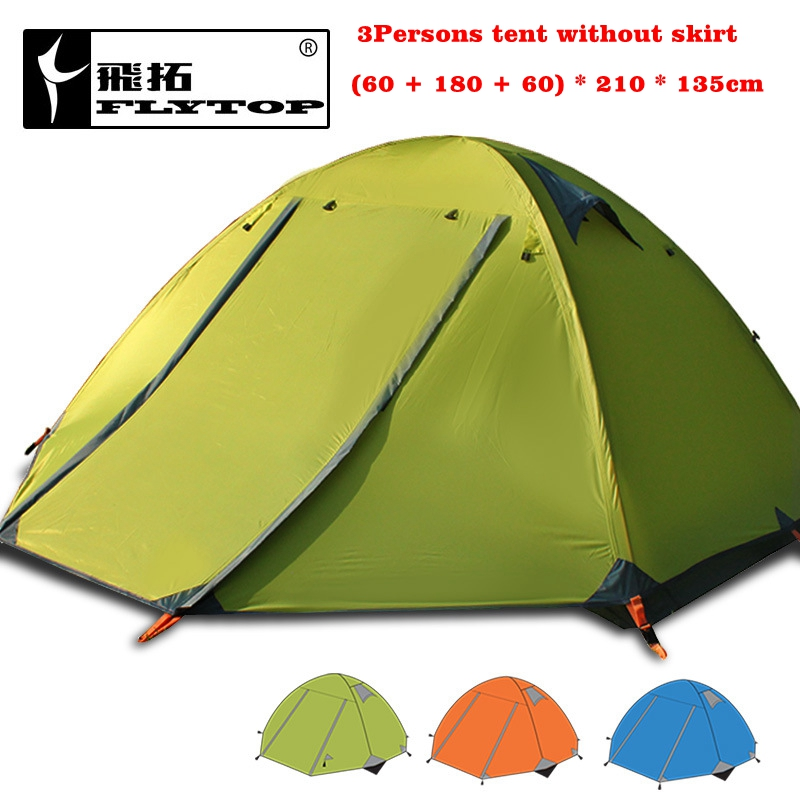 Flytop 4season tent!3persons aluminum pole double layer double door windproof stormproof professional camping outdoor tent outdoor camping hiking automatic camping tent 4person double layer family tent sun shelter gazebo beach tent awning tourist tent