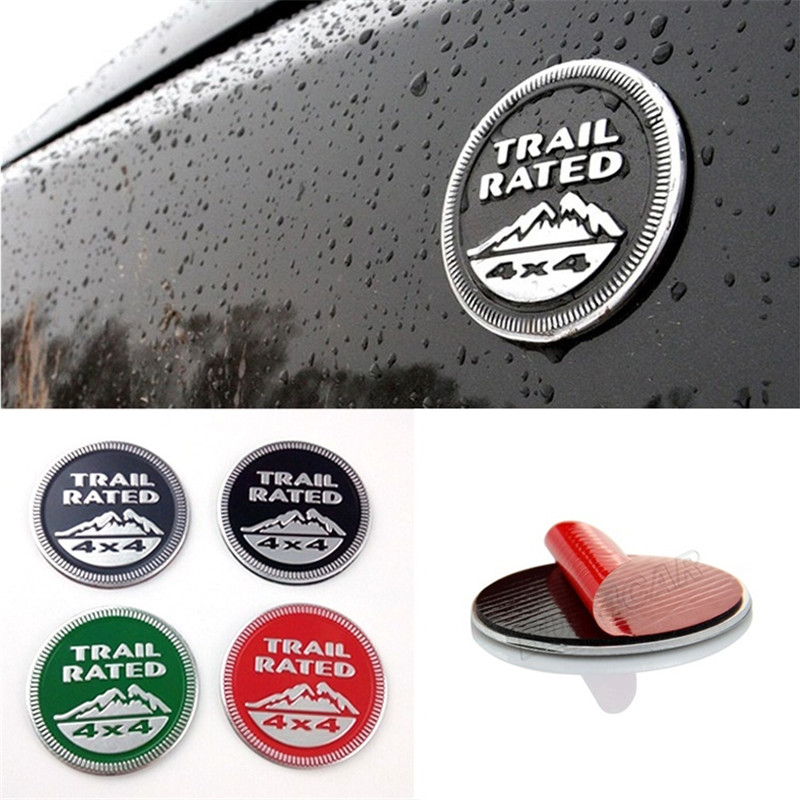 Trail Rated 4X4 3D Emblem Badge Sticker For Jeep Wrangler Patriot Grand Cherokee Trunk Auto Decal Decoration