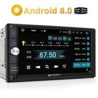 Тыква Qcta Core 2 Din 7 ''Android 8,0 универсальный автомобильный Радио gps навигация Wifi 4G DAB + 4G B ram автомобильный стерео видео плеер без DVD