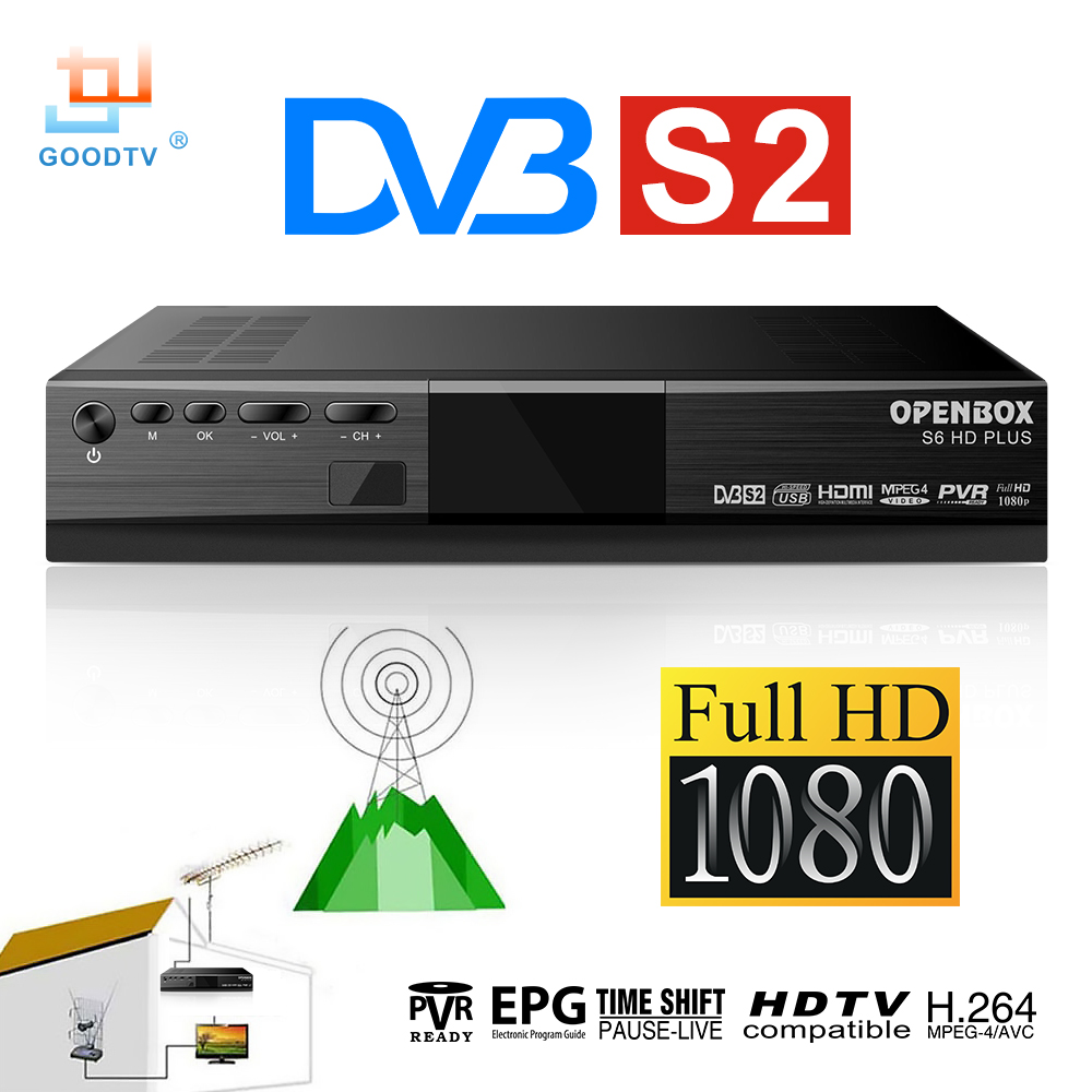 Hot Sale Digital Satellite Receiver OPENBOX S6 H.264 DVB S2 Base Universal LNB Youtube USB Set Top Box Full HD Media Player brand new mini streambox m3c dvb c cable main chip hi3716mv330 linux system hd channels set top box for singpore media player