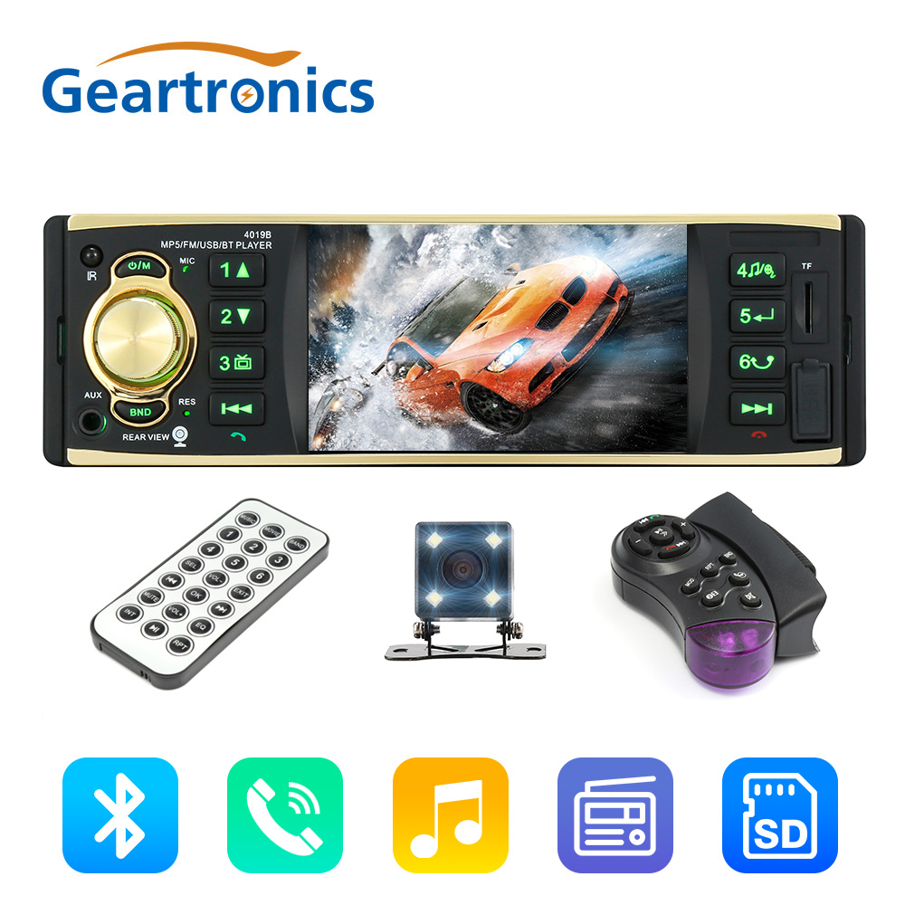 4019B 4.1 inch 1 Din Car Radio Audio Stereo 1Din USB AUX FM Radio Station Bluetooth with Rearview Camera Remote Control 4019b 4 1 inch 1 din car radio audio stereo 1din usb aux fm radio station bluetooth with rearview camera remote control