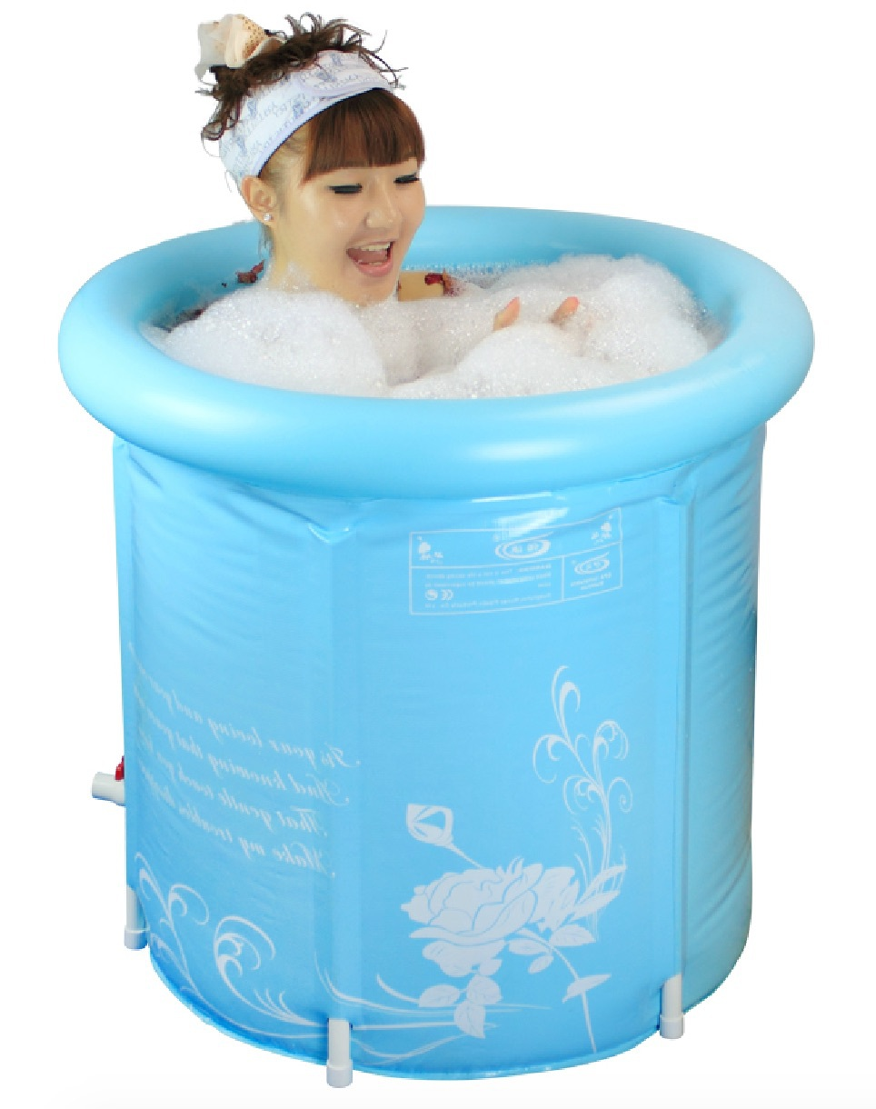 Size 70x70cm,Thickening Folding Portable Tub,Adult Spa PVC Bathtub ...