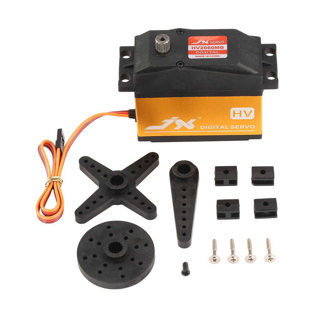 JX PDI-HV2060 RC servo MG Metal 6.0-7.4V Digital HV Servo 62kg Torque Aluminums Case Coreless for 1/5 RC Car RC AccessoriesJX PDI-HV2060 RC servo MG Metal 6.0-7.4V Digital HV Servo 62kg Torque Aluminums Case Coreless for 1/5 RC Car RC Accessories