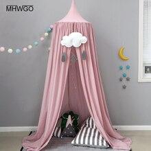 MHWGO Baby Bed Mosquito Net Baby Room Round Crib Netting Baby Crib Kids Boys Girls Princess Canopy Bed Valance Baby Room Decor