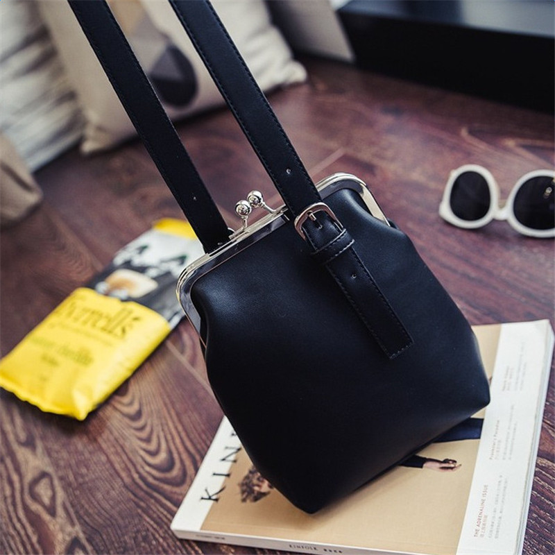 YBYT marca 2017 nuevo de la vendimia ocasional de LA PU de cuero bolsas de cubo de hotsale de las señoras de bolso de tarde del teléfono celular bolsa de hombro crossbody mensajero