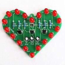 diy electronic kit set Heart-shaped LED kit Water light parts