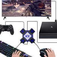 Teclado ratón convertidor Gamepad adaptador de controlador compatible con todas las manijas principales ratón de teclado para PS4 Xbox un interruptor