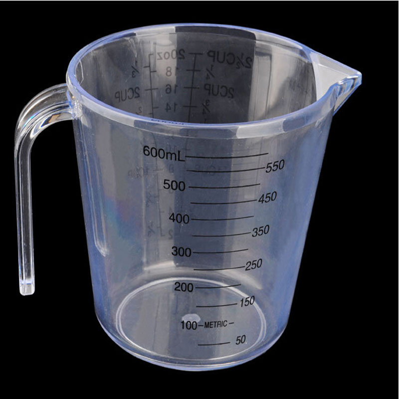 Plastic Measuring Cup 600ml Jug Pour Surface Kitchen Lab Container Gadget 5 Pcs-in