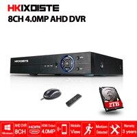 HKIXDISTE 8CH 4MP AHD видеорегистратор Цифровой Регистраторы для видеонаблюдения Камера Onvif сети 16 канальный IP HD 1080 P NVR почтовое аварийное