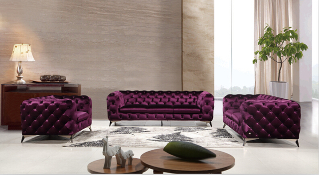 Divani per soggiorno Classico divano in tessuto divano set divano ...