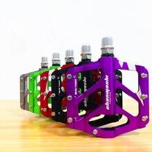 1 זוג MTB אופניים דוושת כביש אופני BMX הר דוושת 6 צבעים שטוח פלטפורמת דוושות