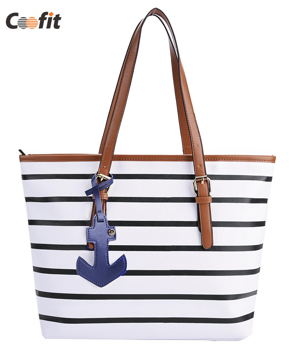 Aliexpress.com   Buy Fashion Women Handbags Stripe navy wind anchor one  shoulder Bag leisure shopping Tote bags wholesale freeshipping from  Reliable fashion ... ceb9bfe360