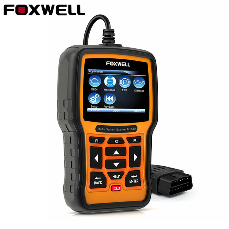 FOXWELL NT510 PRO авто БД OBD2 инструмент диагностики Полный Системы ABS SRS аварии подушки безопасности данных EPB масло для сброса BMW BENZ VAG hyundai
