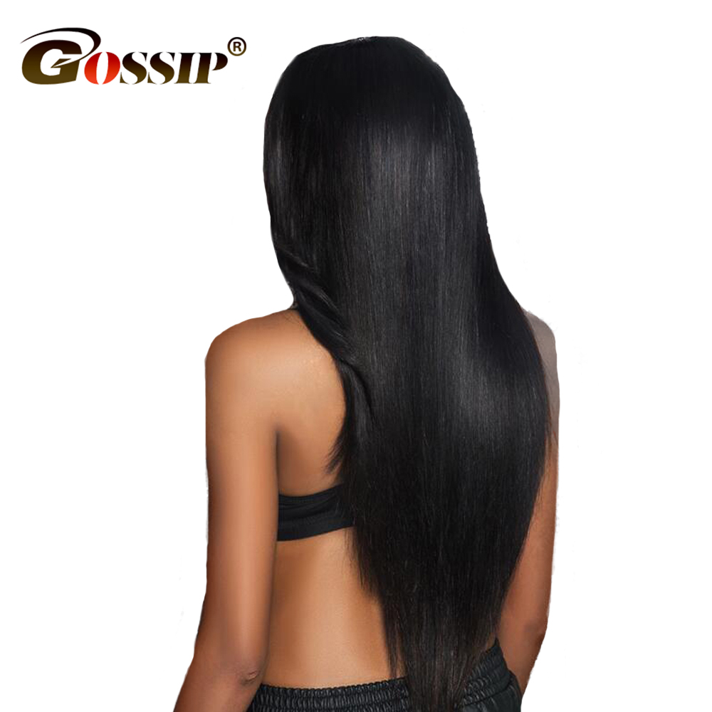 Gossip Straight Hair Extensions Brazilian Remy Hair Weave Bundles 1 PC 10-28″ 100% Human Hair Bundles Double Weft Hair Weaving