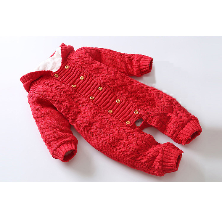 2018 high quality winter Baby Rompers Knit thickening baby boy girl  Hooded clothing newborn Baby clothes2018 high quality winter Baby Rompers Knit thickening baby boy girl  Hooded clothing newborn Baby clothes