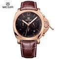 2016 nueva moda diseño megir marca militar del ejército de negocios calendario hombres cronógrafo reloj deportivo reloj de pulsera de lujo 3006