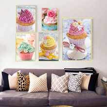 hot deal buy new diamond mosaic painting ice-cream cakes full diamond embroidery 5d diy diamond painting cross stitch square diamond set