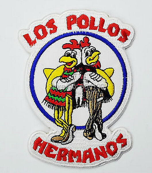"4.5"" BREAKING BAD Los Pollos Hermanos Staff Uniform TV MOVIE Series Embroidered Iron On Patch TRANSFER MOTIF APPLIQUE Badge(China)"