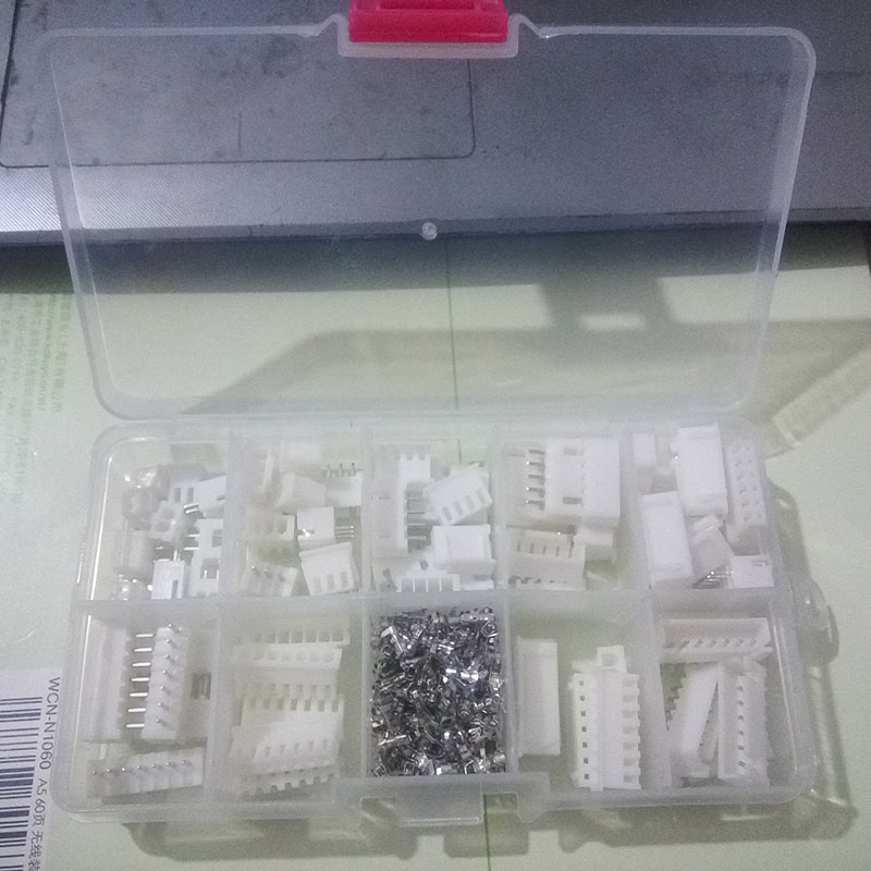 35 sets Kit in box 2p 3p 4p 5 pin 6p 7p 8p 2.54mm Pitch Terminal / Housing  Pin Header Connector Wire Connectors Adaptor XH Kits double row dupont kit 1p 2 2 2 3 2 4 2 5 2 6 2 7 2 8 2 9 2 10pin housing plastic shell terminal jumper wire connector set