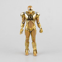 1pcs Set Tyrant Iron Man3 Action Figure Gold Edition The Avengers Anime Marvel MK42 Toy Classic