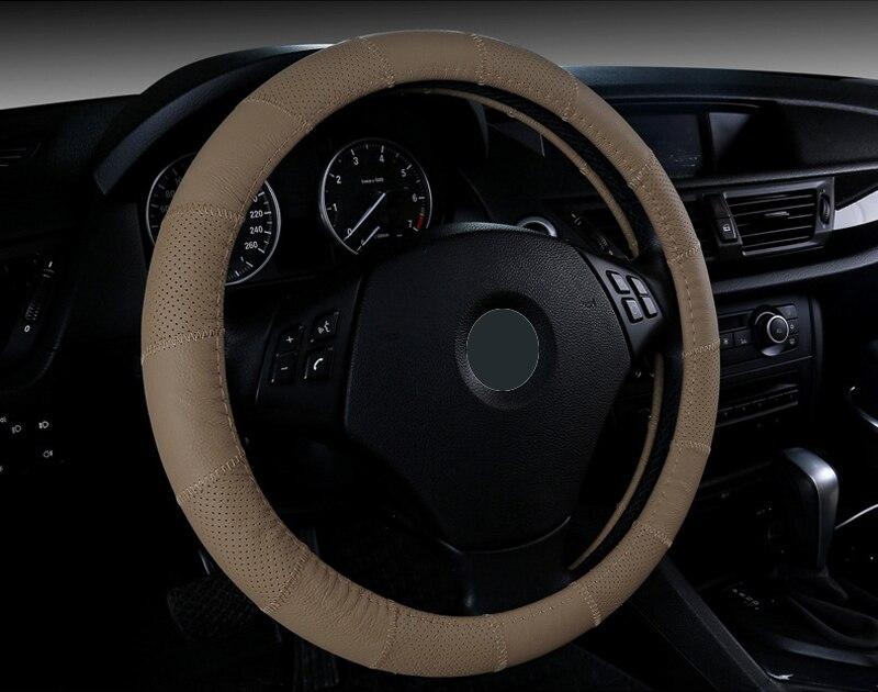 Buy New Genuine Cowhide Car Steering Wheel Covers