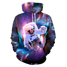 ZOGAA 3D astronaut black hole printing head hooded clothing a generation hoodie harajuku shirt