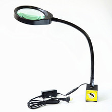 Table Magnifier 5X 125MM Magnetic Base Magnifying Glass with LED Lamp Lupa Loupe for Reading Or iphone Repair