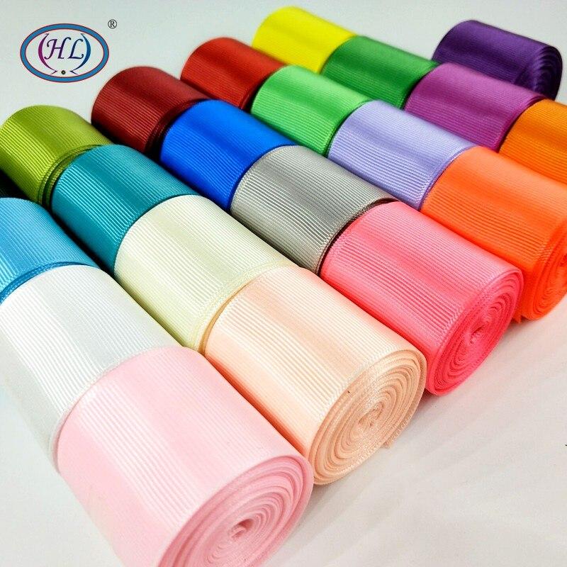 HL 5 ярдов 1-1/2 «(40 мм) одноцветное Цвет ленты в крупный рубчик делает банты на голову свадебные декоративная подарочная коробка упаковка DIY ремесел R010