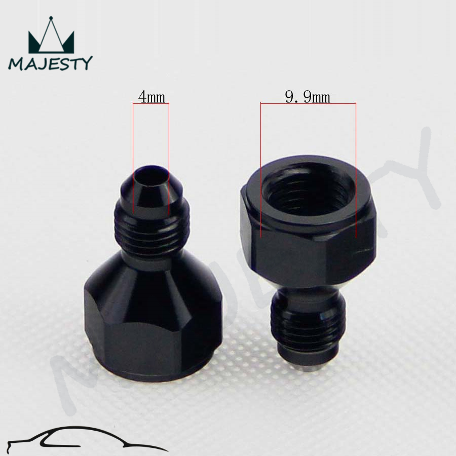 4AN AN4 To 3AN AN3 Straight Reducer Union Fitting Adaptor Black