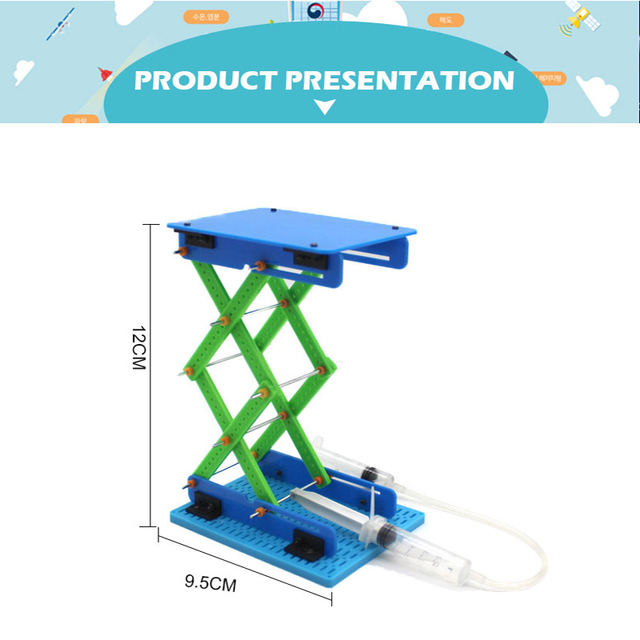 DIY STEM Toys for Children  Educational Science Experiment Creativity Learning Educational Toy Kit Lift Robot Birthday Gift