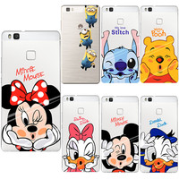 Mickey Minnie Case Ultra Thin Soft Silicon TPU Cover Coque For Huawei P8 P9 P10 Lite 2017 honor 8 9 Y5 II Cases Fundas Capa