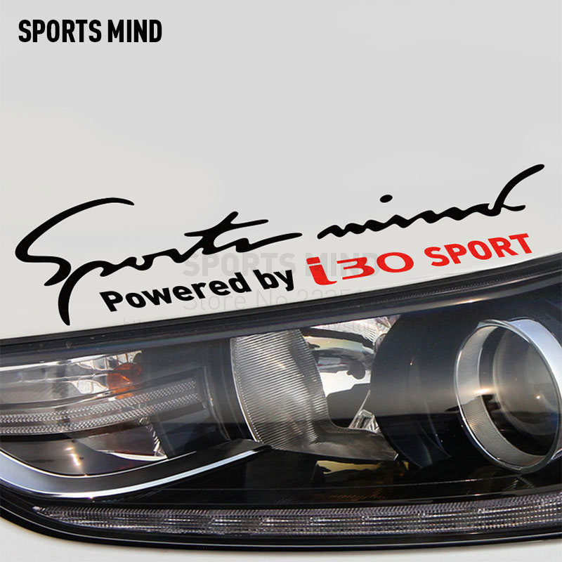 2 Pieces Sports Mind Car Styling On Car Lamp Eyebrow Automobiles Car Sticker For hyundai i30 Car Decal exterior accessories