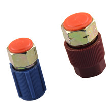 Pair AC R12 to R134A Quick Couplers Connectors Adapters Conversion High and Low Side Port Car Repair Tool(China)
