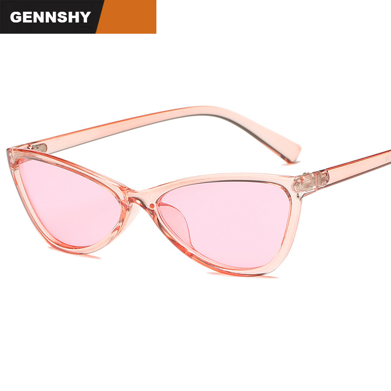 2018 New Trend Cat Eye Sunglasses Women Unique Cool Triangle Sunglasses Korean Design Sunglasses Men Transparent Ocean Lenses Pure White And Translucent