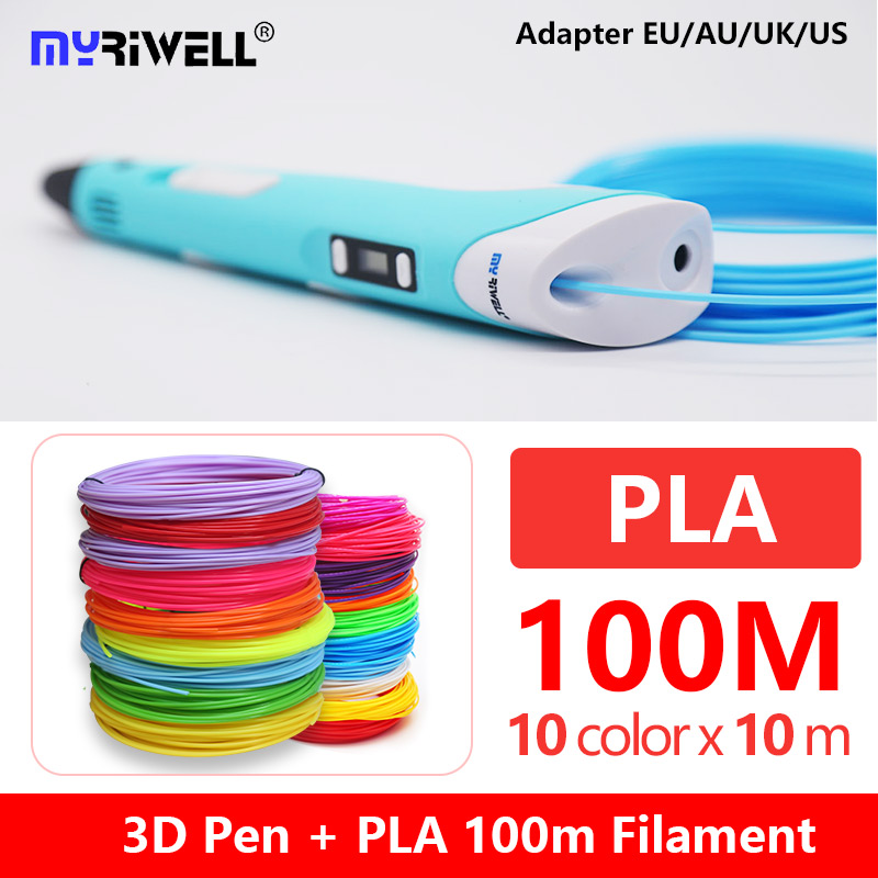 Myriwell  RP-100B 3d Pen With LED Display Free  Pla 1.75mm Abs Filament 3d Handle 3 D Handle With 100m Abs Child Birthday Gift