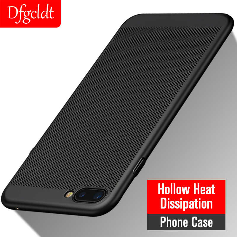 Hollow Heat Dissipation Phone Case for OPPO R9 R9S R11 R11S Plus R17 Pro Slim PC Back Cover for OPPO A1 A3 A5 A33 A37 A57 A59