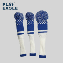 Nouveau Style 3 pièces/ensemble 3 couleur rayure couteau pilote de Golf en bois tête couvre laine tricotée 1 3 5 Fairway protéger couvre chef