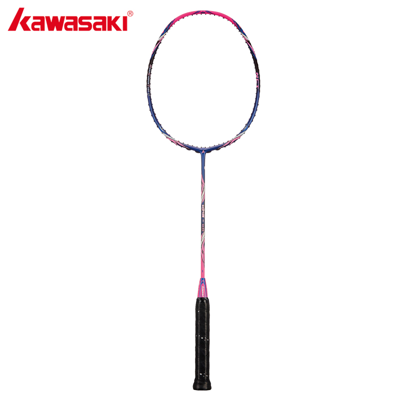 2018 Kawasaki Original Badminton Racket King K8 Attack Type T Head Fullerene Carbon Fiber Racquet For Intermediate Players kawasaki original badminton racket offensive type 18 30lbs graphite fiber badminton racquet for junior players firefox 570 sd