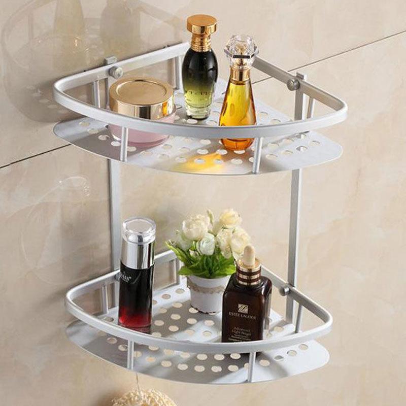 Aliexpress.com : Buy Home Hook Shower Storage 2 Layer Bath Corner ...