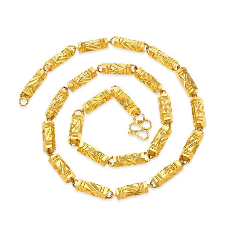 2018 Титан стали модная новинка горячая Распродажа цвет золотистый Цепочки и ожерелья для женщины ювелирные изделия Длинные Цепочки и ожерел...