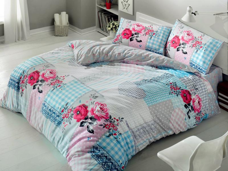 Bedding Set double-euro cottonbox, blue, with pattern sexy stripe pattern bikini set with knot in blue