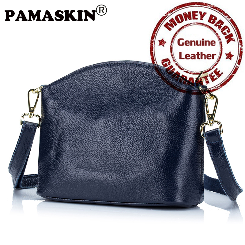 Women Messenger Bags Genuine Leather 100% Guaranteed 2017 New Arrivals Famous Brand Hot Ladies Shoulder Handbags with Wristband 2017 new arrivals vintage dark coffee men messenger bags 100% genuine leather guaranteed hot fashion designer men crossbody bags
